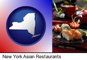 Asian-style food in New York, NY
